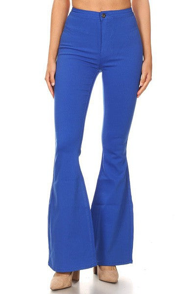 SPANKY STRETCH FLARE JEANS ROYAL BLUE