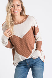 BROWN TWO - TONED THERMAL TOP