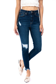 GEMMA HIGH RISK ANKLE SKINNY JEANS