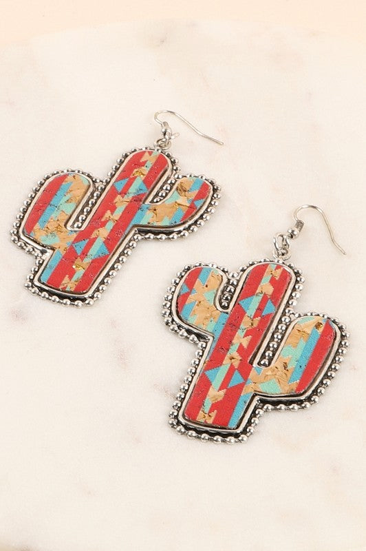AZTEC CACTUS EARRINGS