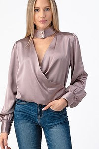 MULBERRY WINE BLOUSE