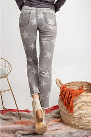 BLACK DENIM STAR SKINNIES