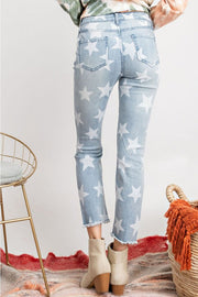 LIGHT WASH DENIM STAR SKINNIES