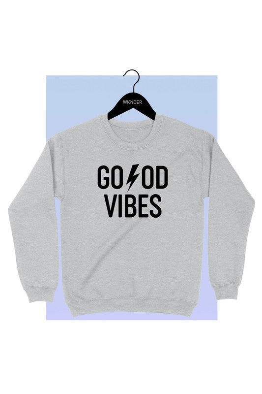 GOOD VIBES - HEATHER GRAY SWEATSHIRT