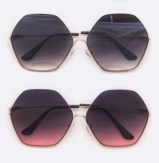 OVER-SIZED HEXAGON SUNGLASSES