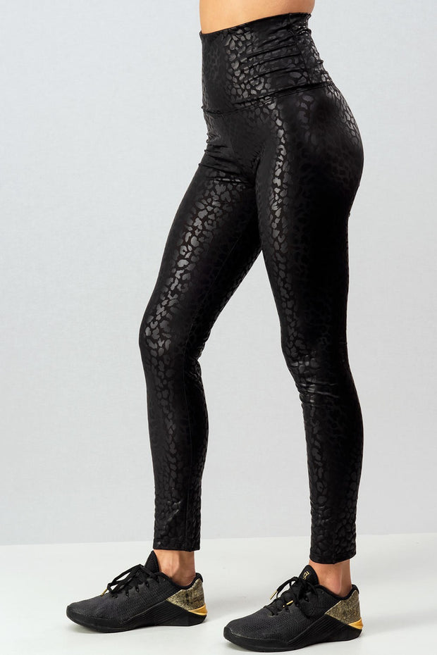 3D LEOPARD PRINT HIGH RISE LEGGINGS