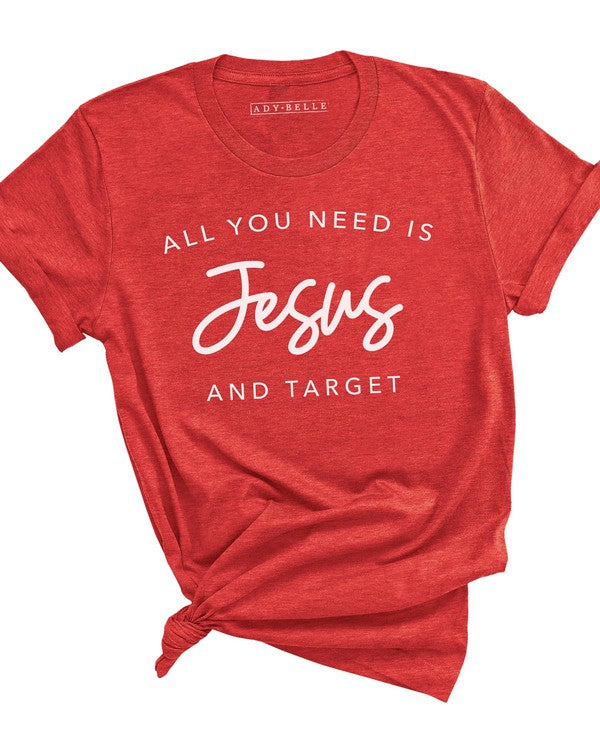 JESUS AND TARGET - HEATHER RED TEE