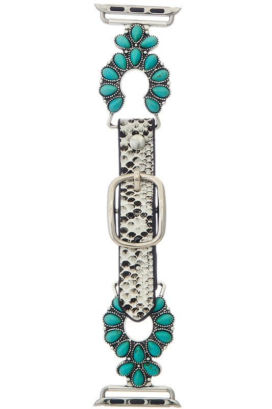 SNAKE SKIN TURQUOISE WATCH BAND