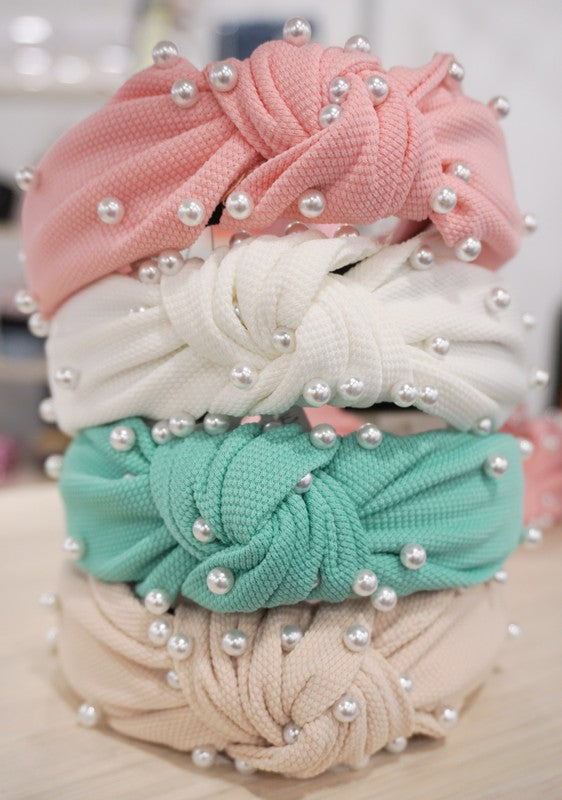 SPRING PEARL TOP KNOW HEADBANDS