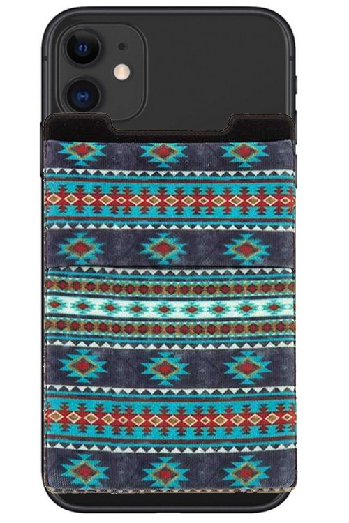 BLUE MULTI AZTEC PHONE POCKET