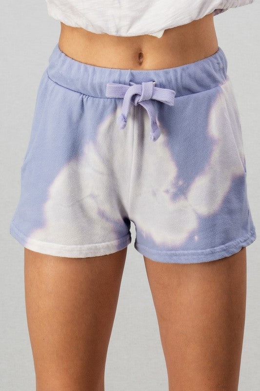 LAVENDER FRENCH TERRY SHORTS