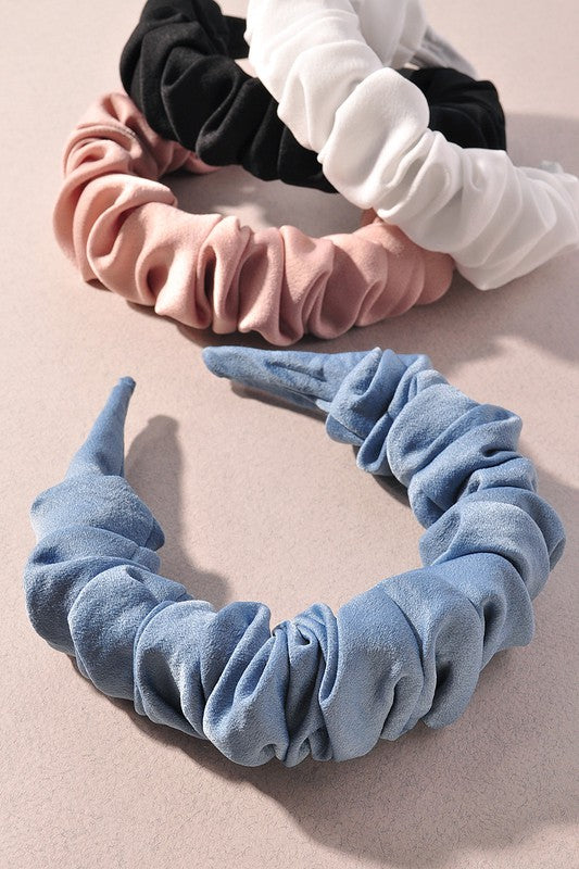 SCRUNCH VELVET HEADBANDS