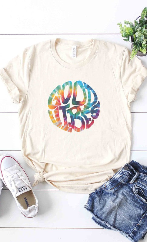 GOOD LIFE TIE DYE - CREAM TEE