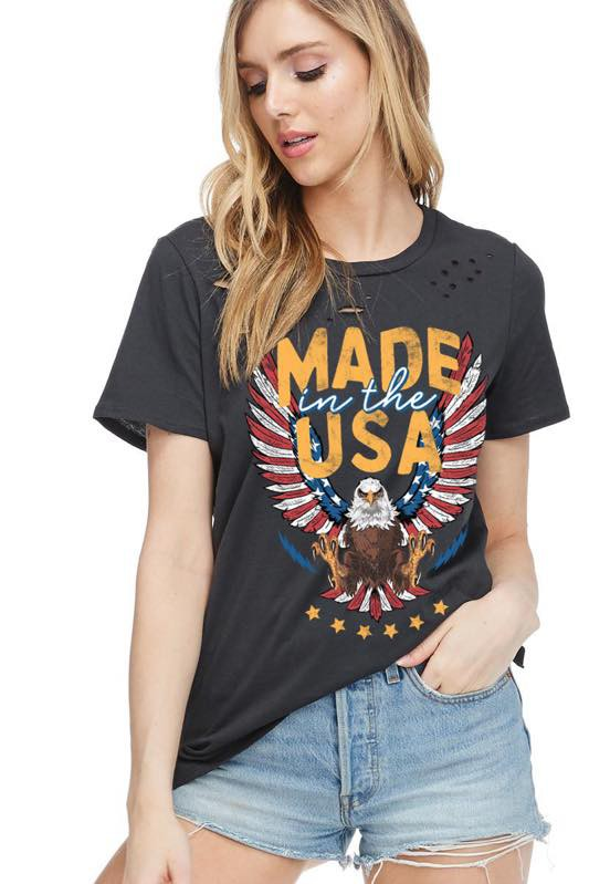 MADE IN THE USA GRAPHIC TOP