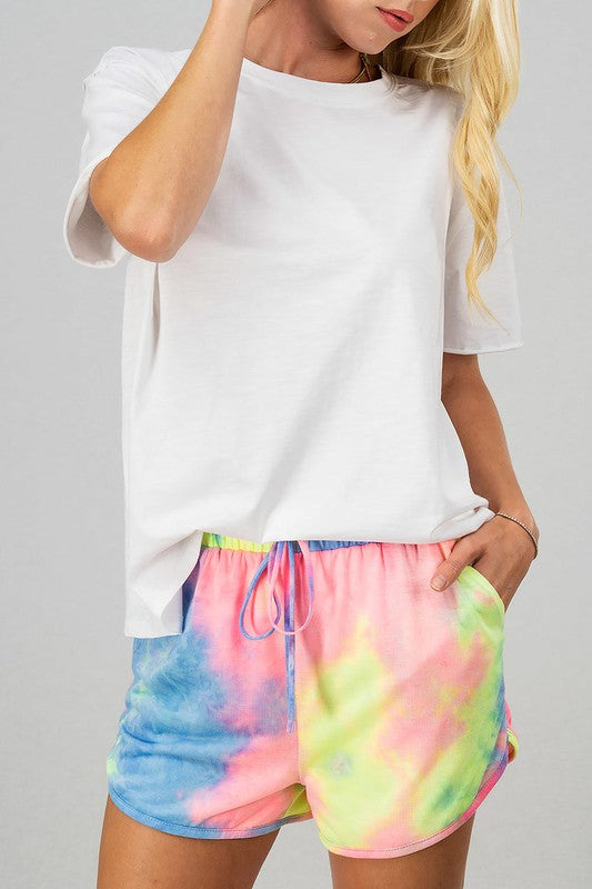 TIE DYE BRIEF SHORTS