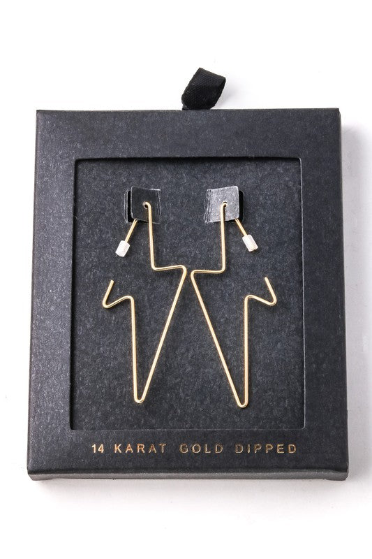 LIGHTENING BOLT EARRINGS - GOLD