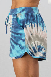 BLUE TIE DYE BRIEF SHORTS