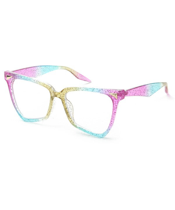 MULTICOLOR GLITTER BLUE BLOCKING GLASSES