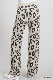 OATMEAL LEOPARD COZY LOUNGE PANTS