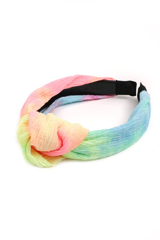 Tie Dye Fabric Knot Headband