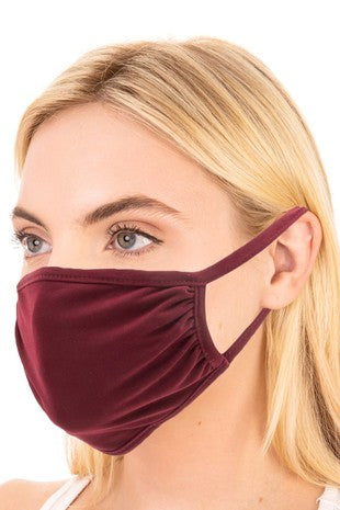 BURGUNDY FACE MASK