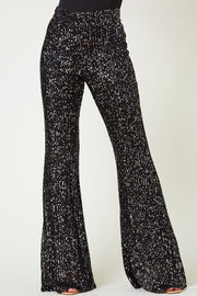 BLACK SEQUIN DRESS PANTS