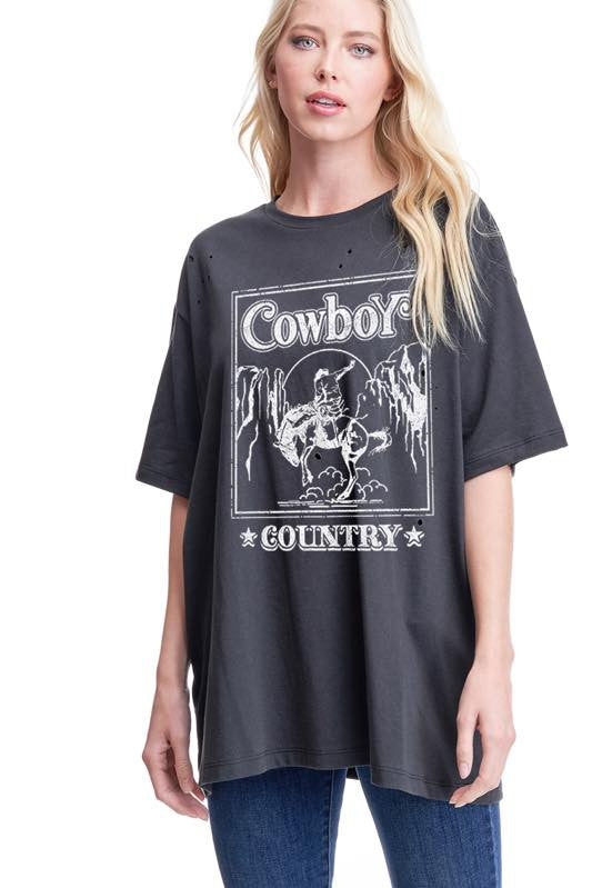 COWBOY COUNTRY GRAPHIC TEE