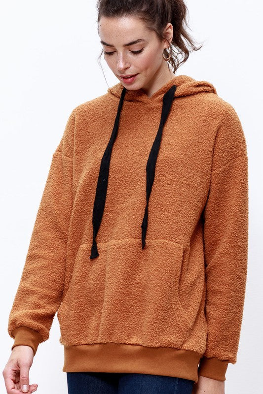 BRONZE TEDDY HOODED PULLOVER