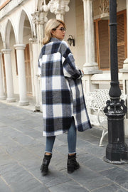 RAVEN PLAID LONG SHIRT JACKET