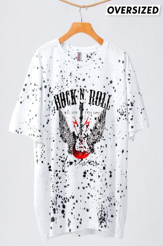 WHITE ROCK N ROLL GRAPHIC TEE