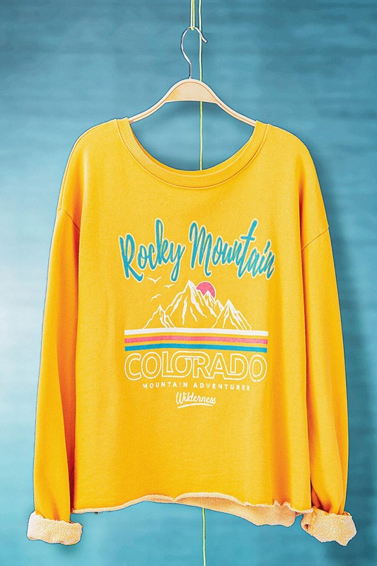 ROCKY MOUNTAIN GOLD MINERAL WASHED CROPPED SWEATSHIRT