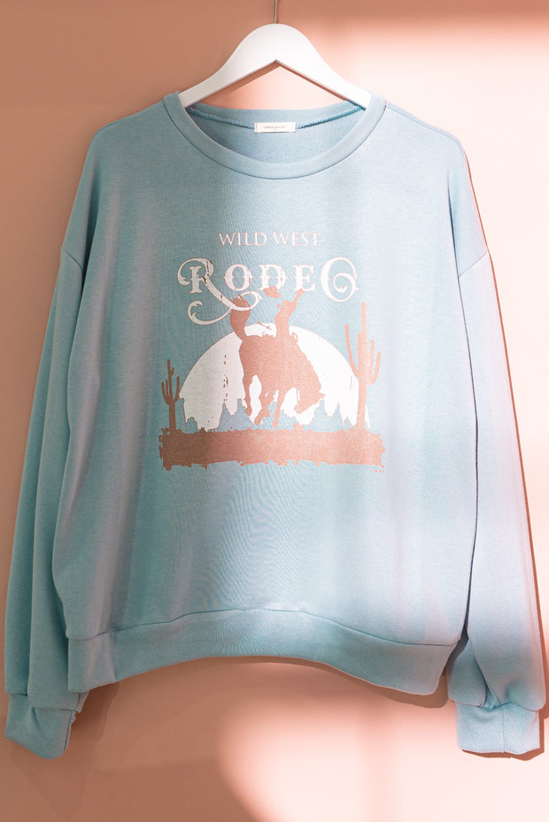 WILD WEST RODEO - BLUE PULLOVER