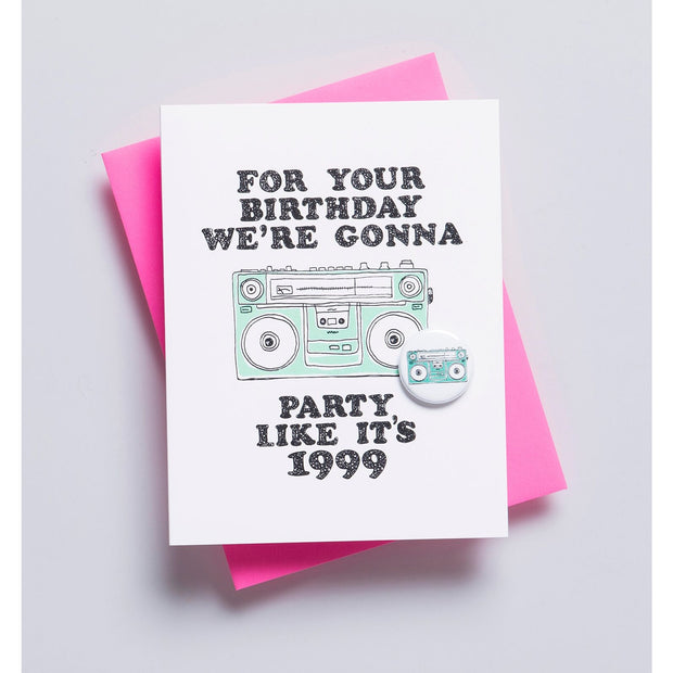 BOOMBOX BIRTHDAY CARD