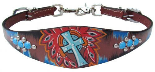 PAINTED CROSS WITHER STRAP