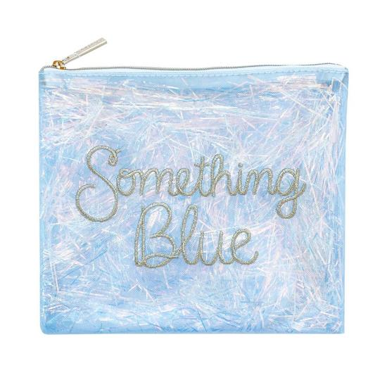 SOMETHING BLUE BRIDAL POUCH