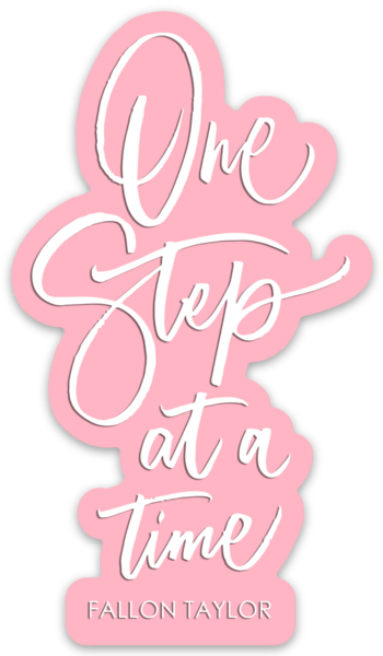 ONE STEP AT A TIME STICKER