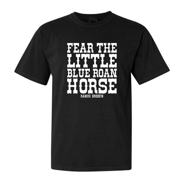 CUSTOM FEAR THE _______________ HORSE - BLACK TEE (ADULT)