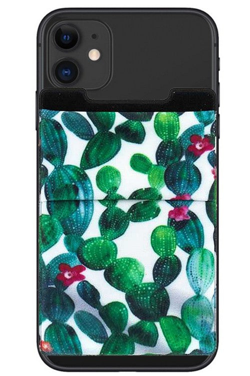 GREEN CACTUS PHONE POCKET