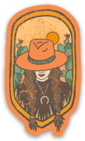 DEEP THOUGHTS COWGIRL STICKER