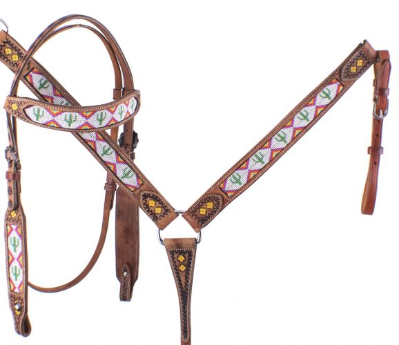 CACTUS PRINT BEADED TACK SET