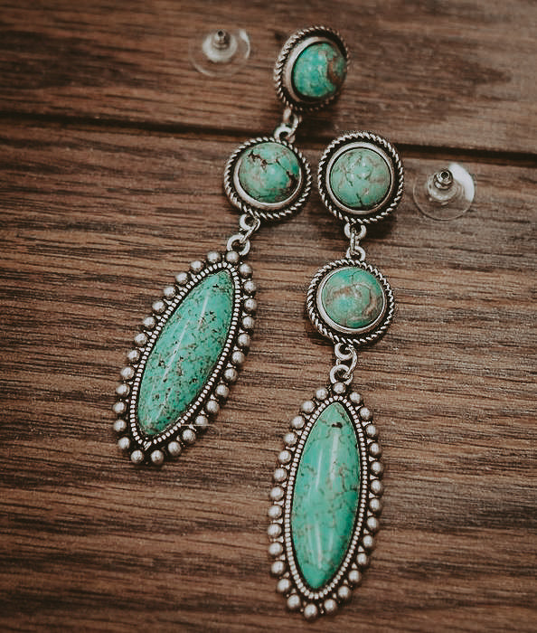 TURQUOISE OLIVIA EARRINGS
