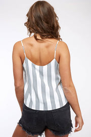 IVORY/NAVY STRIPE CAMI TOP