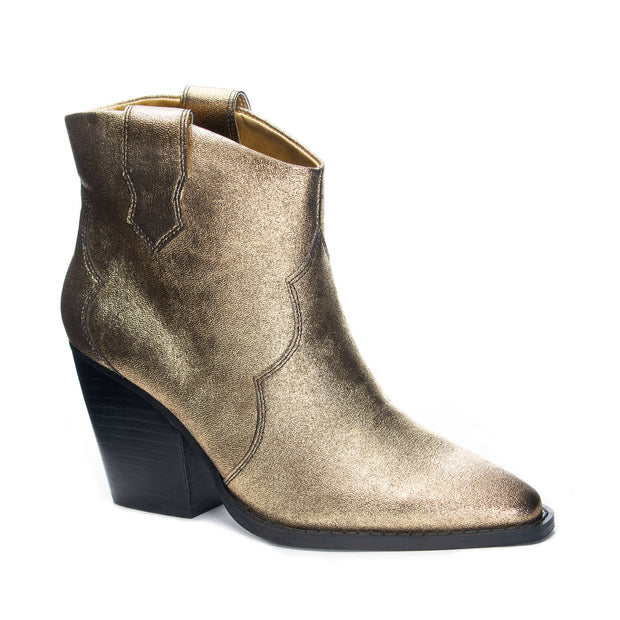 BONNIE GOLD METAL BOOTIES FROM CHINESE LAUNDRY