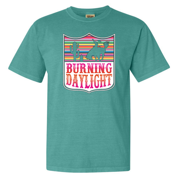 BURNING DAYLIGHT - TURQUOISE TEE*
