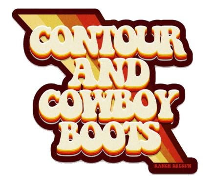 CONTOUR AND COWBOY BOOTS STICKER