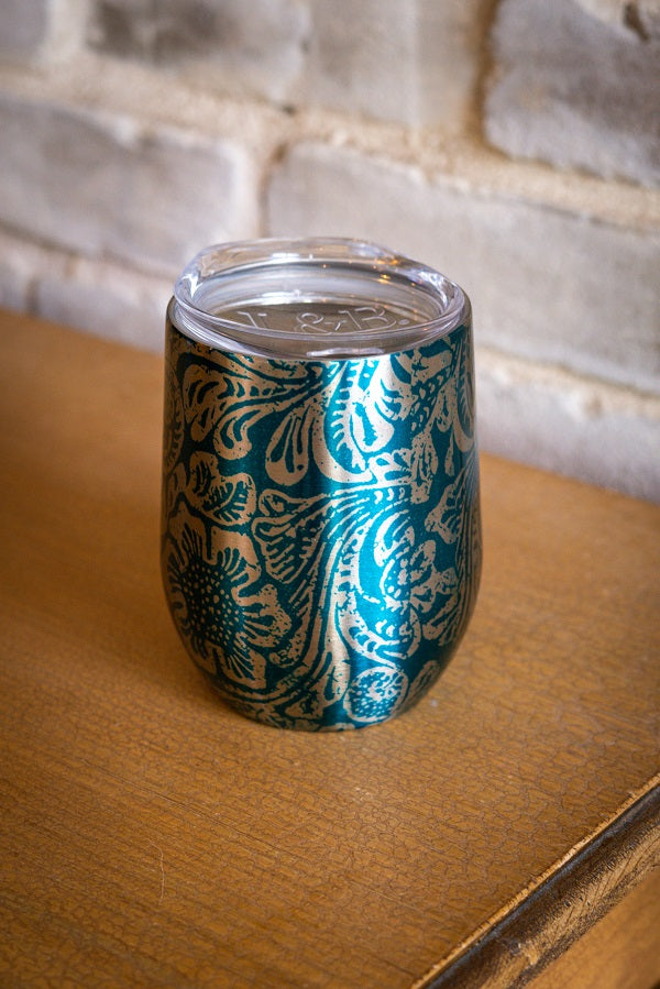 JADE TOOLED CHROME SIPPER TUMBLER