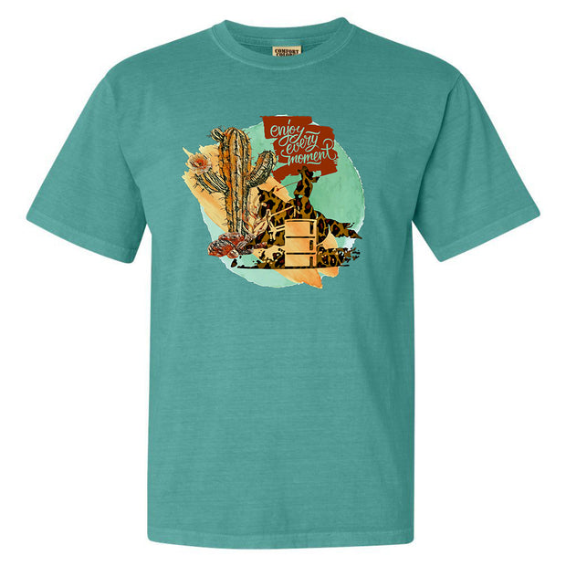 ENJOY EVERY MOMENT - TURQUOISE TEE