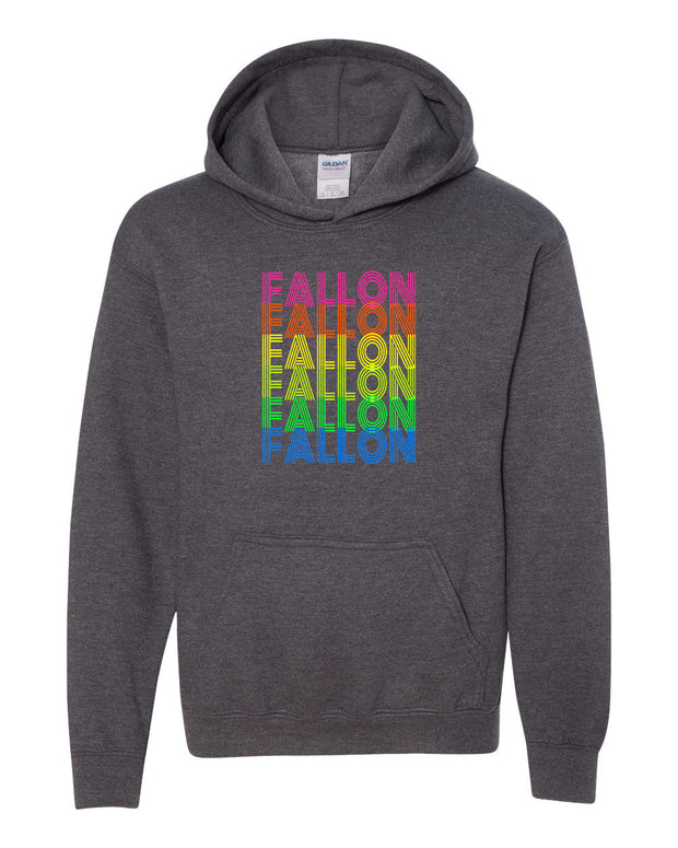 FALLON (MULTIOLOR) *YOUTH* GRAY HOODIE