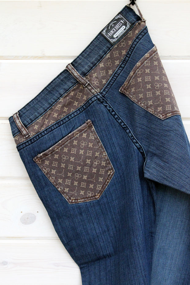 FASHION PRINT DENIM JEANS