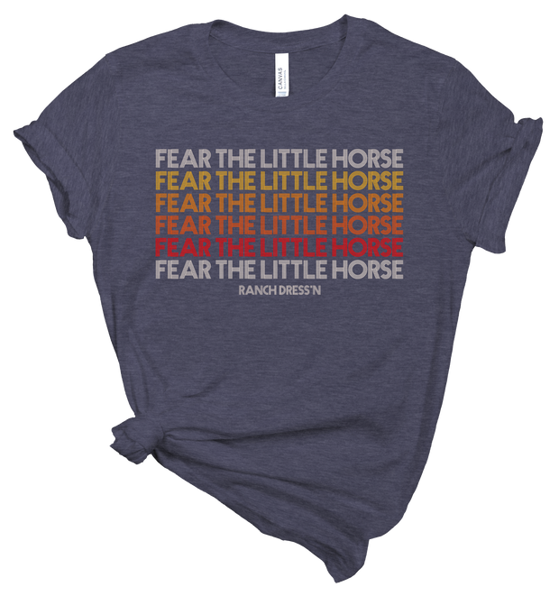 FEAR THE LITTLE HORSE RETRO TEE - NAVY
